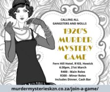 1920's Murder Mystery Game