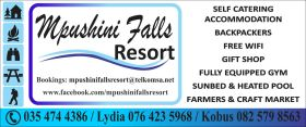 Mpushini Falls Resort Accommodation
