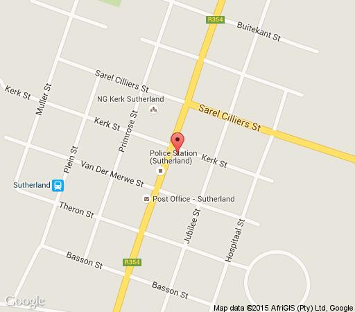 Map Sutherland Hotel in Sutherland  Hantam Karoo  Northern Cape  South Africa