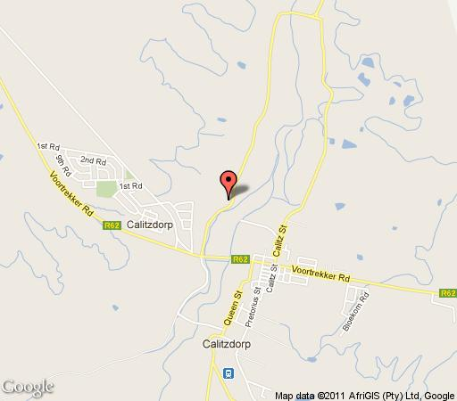 Map Liefling Guest Cottages in Calitzdorp  Klein Karoo  Western Cape  South Africa