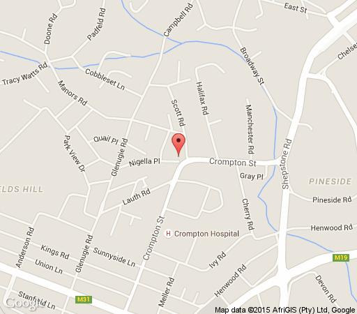 Map Nigella B&B in Pinetown  Western Suburbs (DBN)  Durban and Surrounds  KwaZulu Natal  South Africa