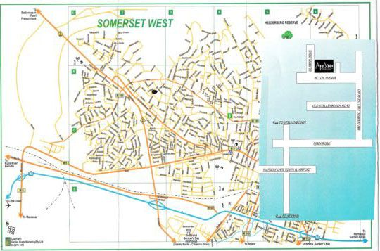 Map Aqua Vista in Somerset West  Helderberg  Western Cape  South Africa