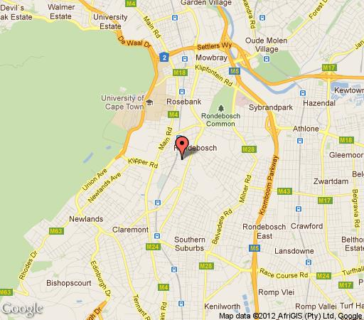 Map Rondebosch Oaks - Unit 46  in Rondebosch  Southern Suburbs (CPT)  Cape Town  Western Cape  South Africa