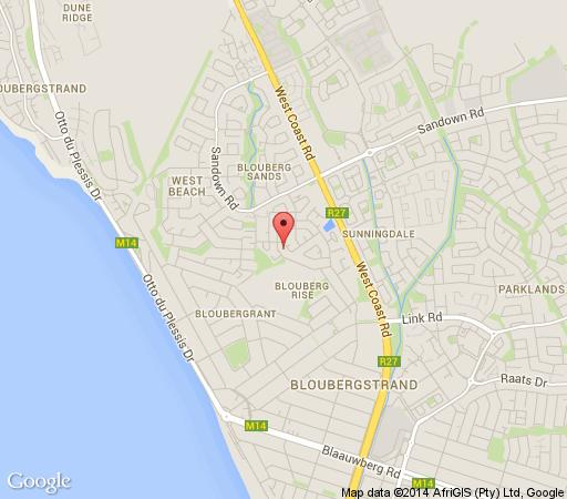 Map 1 Cape Town Seamore  in Bloubergstrand  Blaauwberg  Cape Town  Western Cape  South Africa