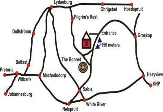 Map Wild Forest Inn in Graskop  The Panorama  Mpumalanga  South Africa
