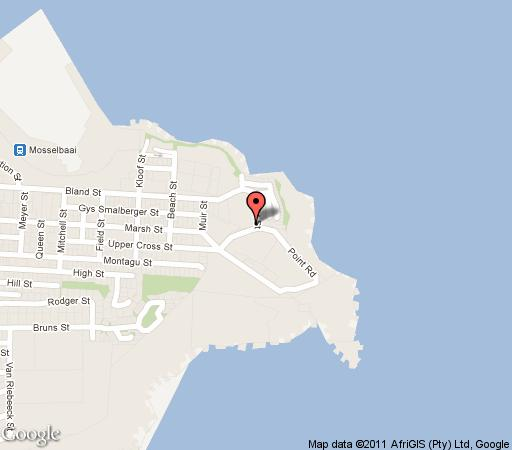 Map 1 point village guesthouse in mossel bay garden route western cape