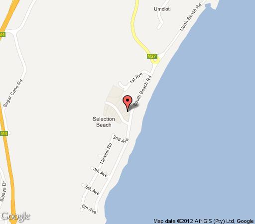 Map Lalaphansi in Umdloti  North Coast (KZN)  KwaZulu Natal  Südafrika