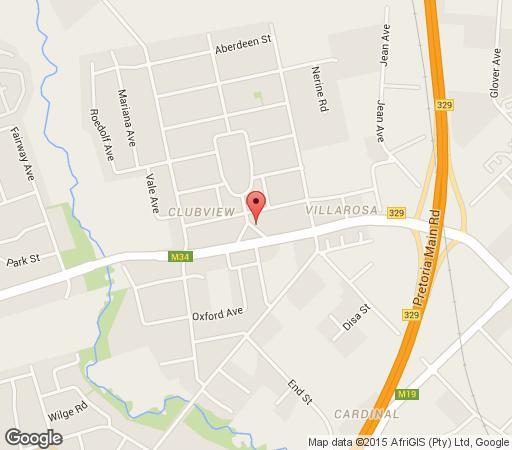 Map A Lala Lodge in Clubview  Centurion  Pretoria / Tshwane  Gauteng  South Africa