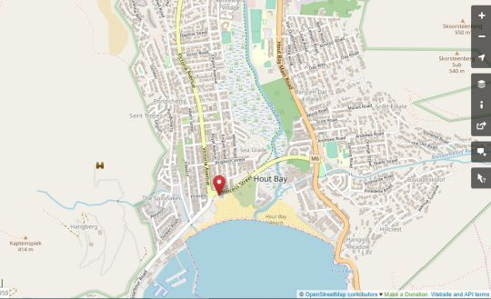 Map Beach House Guest House  in Hout Bay  Atlantic Seaboard  Cape Town  Western Cape  South Africa