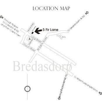 Map Firlane House in Bredasdorp  Overberg  Western Cape  South Africa