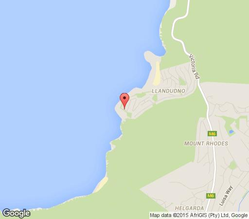 Map Sunset Rocks Accommodation in Llandudno  Atlantic Seaboard  Cape Town  Western Cape  South Africa