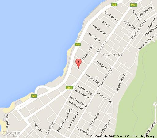 Map Sea Point Penthouse in Sea Point  Atlantic Seaboard  Cape Town  Western Cape  South Africa