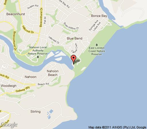 Map Seaview Place Bed and Breakfast in Beacon Bay  East London  Amatole  Eastern Cape  South Africa