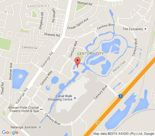 Map Kingfisher Executive Apartments in Century City  Blaauwberg  Cape Town  Western Cape  South Africa