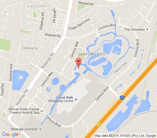 Map Kingfisher Executive Apartments in Century City  Blaauwberg  Kaapstad  Western Cape  Suid-Afrika