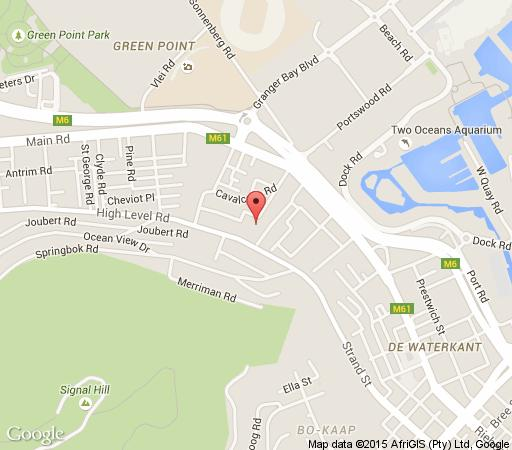 Map Port View Guest House in Green Point  Atlantic Seaboard  Cape Town  Western Cape  South Africa