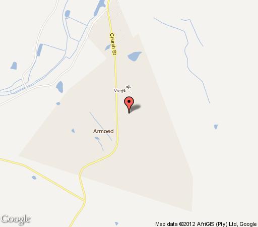 Map Avondblij Guest House in Oudtshoorn  Klein Karoo  Western Cape  South Africa