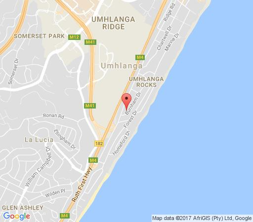 Map 5 Burnham Guest House in Umhlanga Rocks  Umhlanga  Northern Suburbs (DBN)  Durban and Surrounds  KwaZulu Natal  South Africa