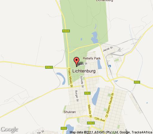 Map Little Dreams Guest House in Lichtenburg  Central (NW)  North West  South Africa