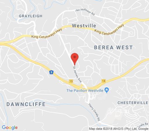Map 29 on St James in Westville  Western Suburbs (DBN)  Durban and Surrounds  KwaZulu Natal  Südafrika