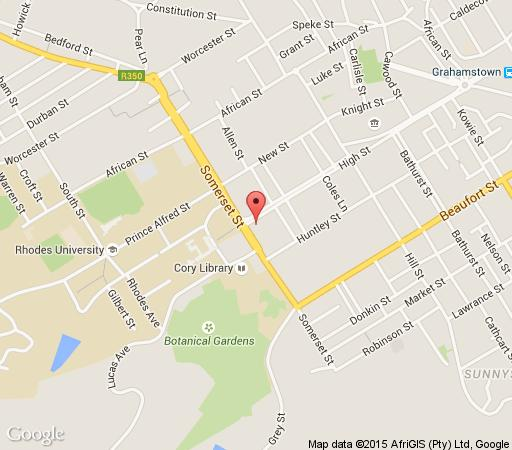 Map High Corner Guesthouse in Grahamstown  Cacadu (Sarah Baartman)  Eastern Cape  South Africa