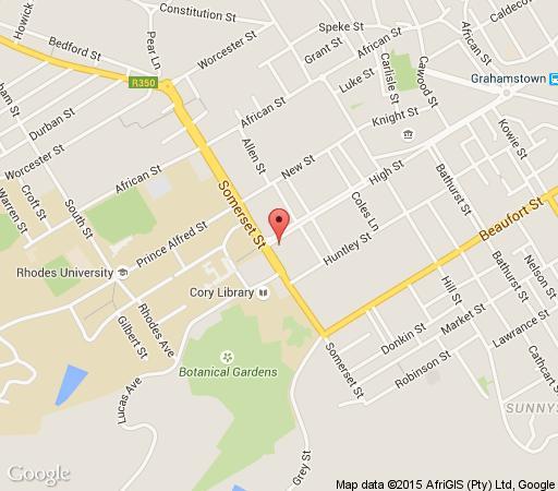 Map High Corner Guesthouse in Grahamstown  Cacadu (Sarah Baartman)  Eastern Cape  South Africa