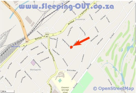 Map A Family and Friends Guesthouse in Bluff  Durban  Durban and Surrounds  KwaZulu Natal  South Africa