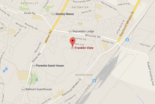 Map Franklin View in Bloemfontein  Mangaung  Free State  South Africa