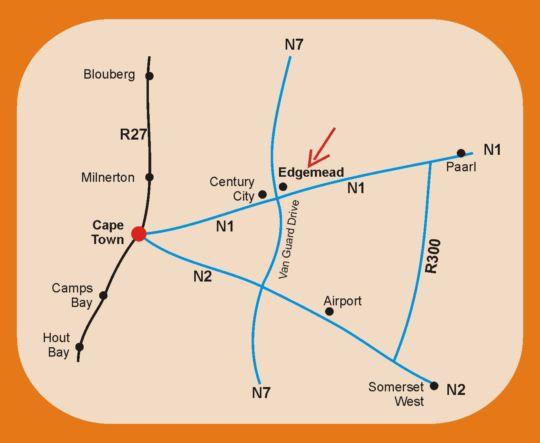 Map Gypsy\'s Corner 3 in Edgemead  Northern Suburbs (CPT)  Cape Town  Western Cape  South Africa