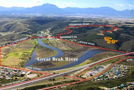 Map Ilita Lodge in Great Brak River  Garden Route  Western Cape  South Africa