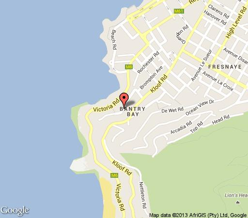 Map Bantry Bay Luxury Apartment in Bantry Bay  Atlantic Seaboard  Cape Town  Western Cape  South Africa