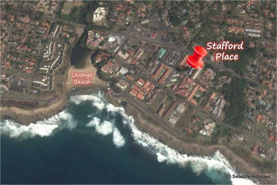 Map 22 Stafford Place in Uvongo  South Coast (KZN)  KwaZulu Natal  South Africa
