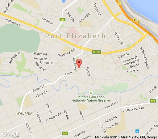 Map Hallack Manor in St Georges Park  Port Elizabeth  Cacadu (Sarah Baartman)  Eastern Cape  South Africa