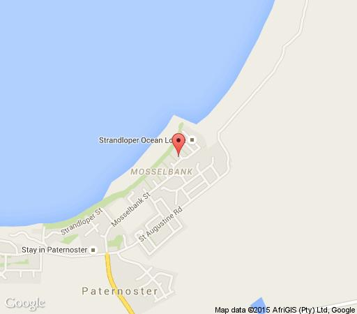 Map Baywatch Guest House in Paternoster  West Coast (WC)  Western Cape  South Africa