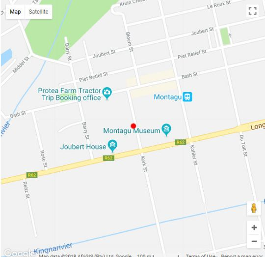 Map 20 on Church in Montagu  Breede River Valley  Western Cape  South Africa