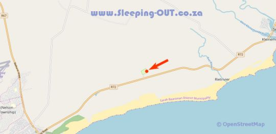 Map Green Fountain Farm Caravan Park in Port Alfred  Cacadu (Sarah Baartman)  Eastern Cape  Zuid-Afrika