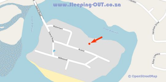 Map Joans Place in Great Brak River  Garden Route  Western Cape  South Africa