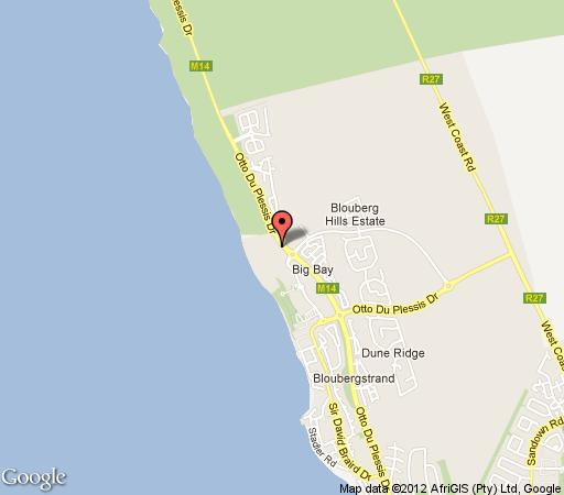 Map Casa Blue 111 Big Bay in Bloubergstrand  Blaauwberg  Cape Town  Western Cape  South Africa