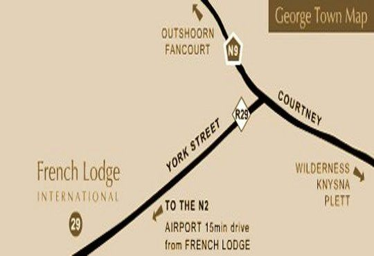 Map French Lodge International in George  Garden Route  Western Cape  South Africa