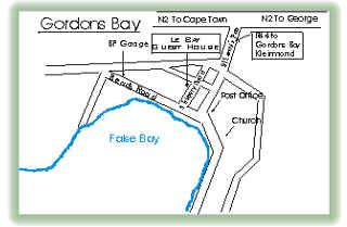 Map Le Bay Guest House cc in Gordon's Bay  Helderberg  Western Cape  South Africa