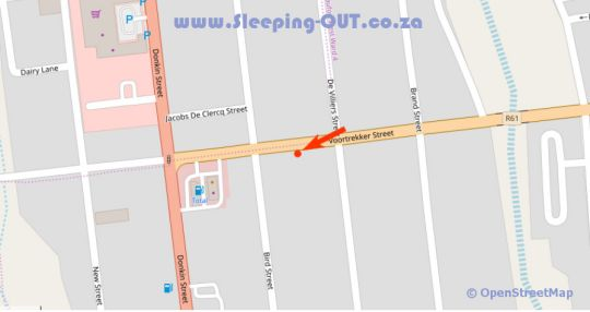 Map Old House Lodge in Beaufort West  Karoo  Western Cape  South Africa