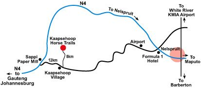 Map  Lambourns in Kaapsehoop  Lowveld  Mpumalanga  South Africa