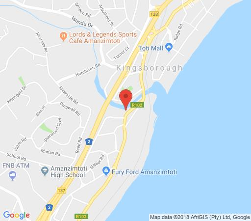 Map 2502 High Tide in Amanzimtoti  South Coast (KZN)  KwaZulu Natal  South Africa