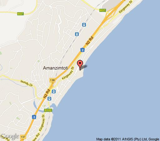 Map Seaside At Van\'s in Amanzimtoti  South Coast (KZN)  KwaZulu Natal  South Africa