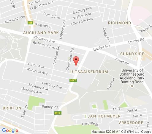 Map Auckland Park Manor in Melville(JHB)  Northcliff/Rosebank  Johannesburg  Gauteng  South Africa