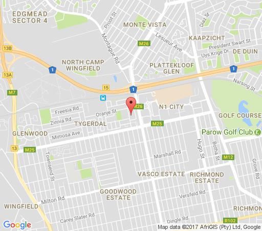 Map Accommodation Nachelle in Goodwood  Northern Suburbs (CPT)  Cape Town  Western Cape  South Africa