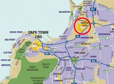Map Majorca Self Catering Apartments in Century City  Blaauwberg  Cape Town  Western Cape  South Africa