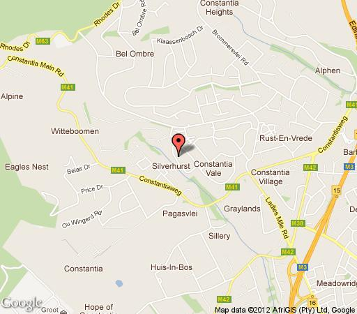 Map LeBonheur in Constantia (CPT)  Southern Suburbs (CPT)  Cape Town  Western Cape  South Africa
