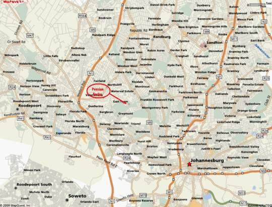 Map PensionGecko in Northcliff  Northcliff/Rosebank  Johannesburg  Gauteng  South Africa