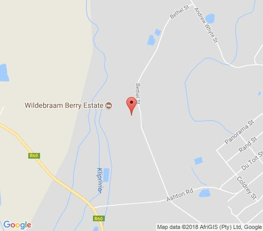 Map Berry Cottages + Apartments @ Wildebraam in Swellendam  Overberg  Western Cape  South Africa